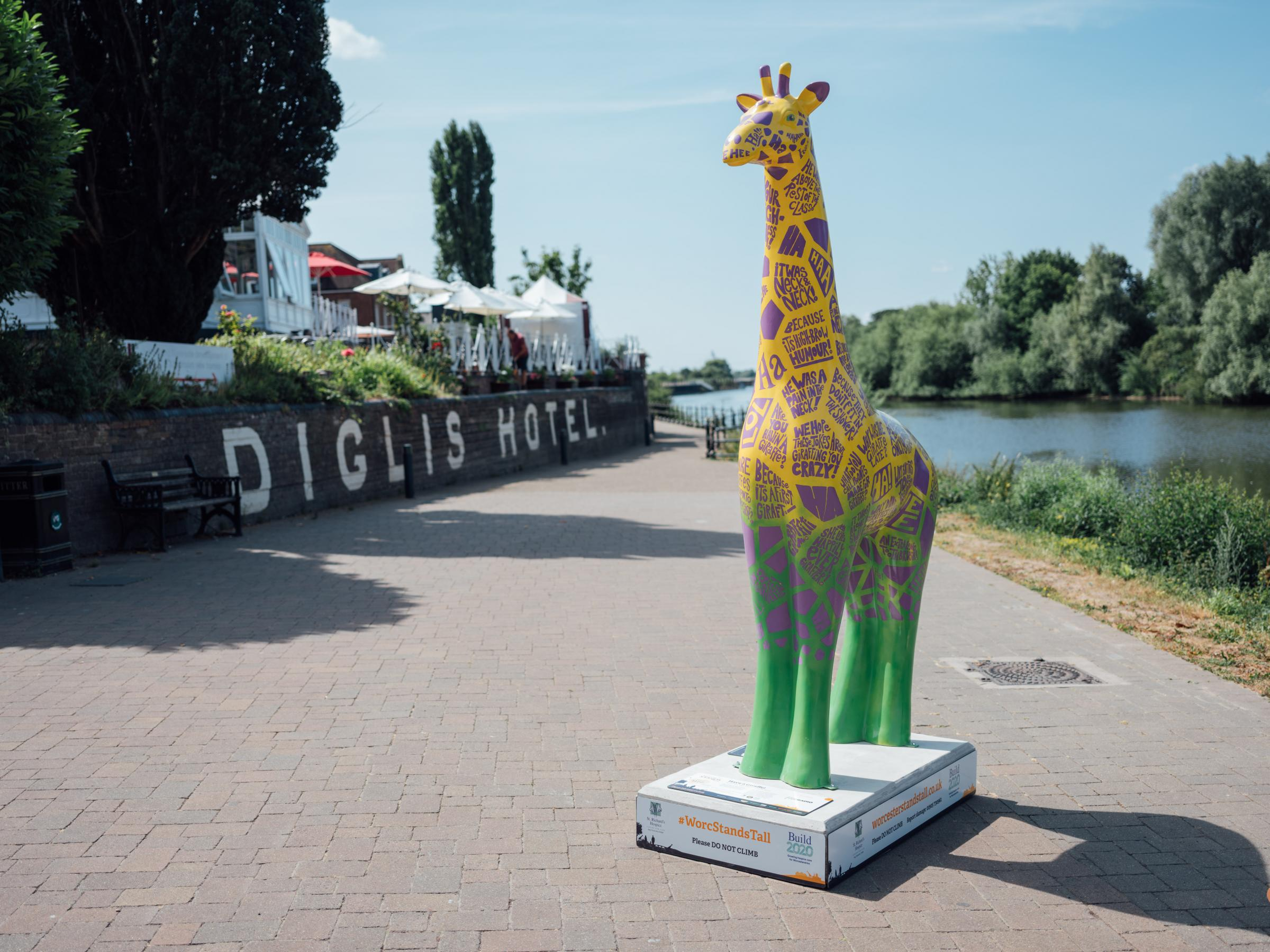 One of the Worcester Stands Tall giraffes