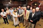 UNITY: City councillor Jabba Riaz, the Mayor of Worcester, hosted a meeting with faith leaders and other officials at the Guildhall. The Bishop of Worcester, The Right Rev Dr John Inge welcomes Dr Shareef Al Hussain (centre left), watched by Worcester&#39