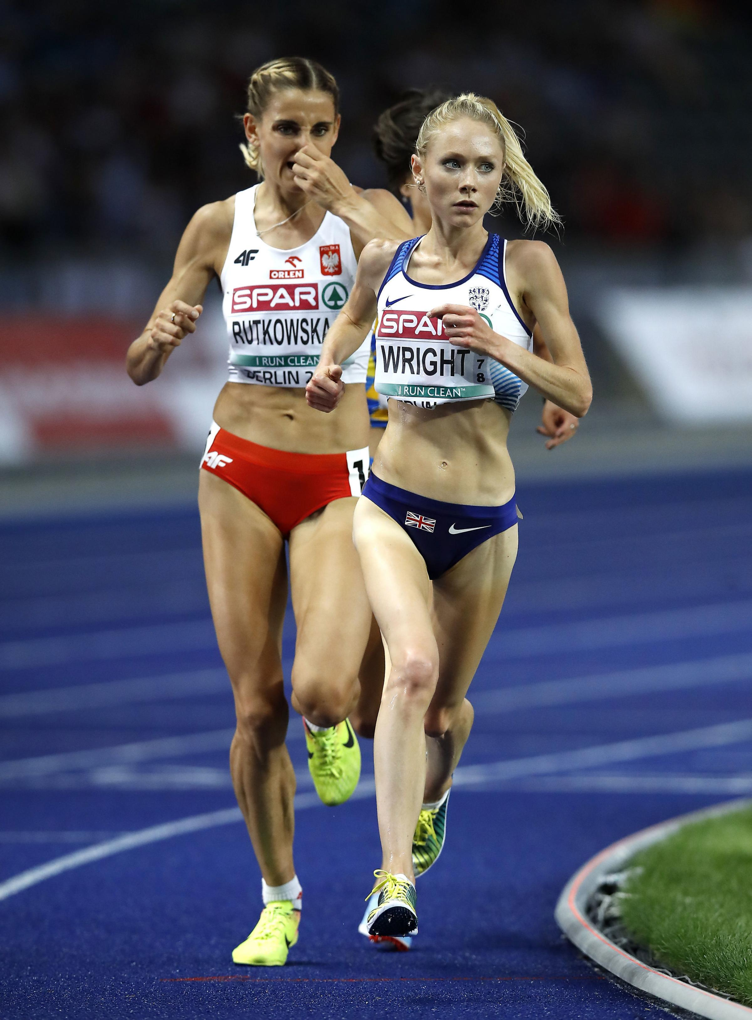 Alice Wright competes in the women's 10,000-metre final at the 2018 European Athletics Championships in Berlin. Picture: MARTIN RICKETT/PA WIRE