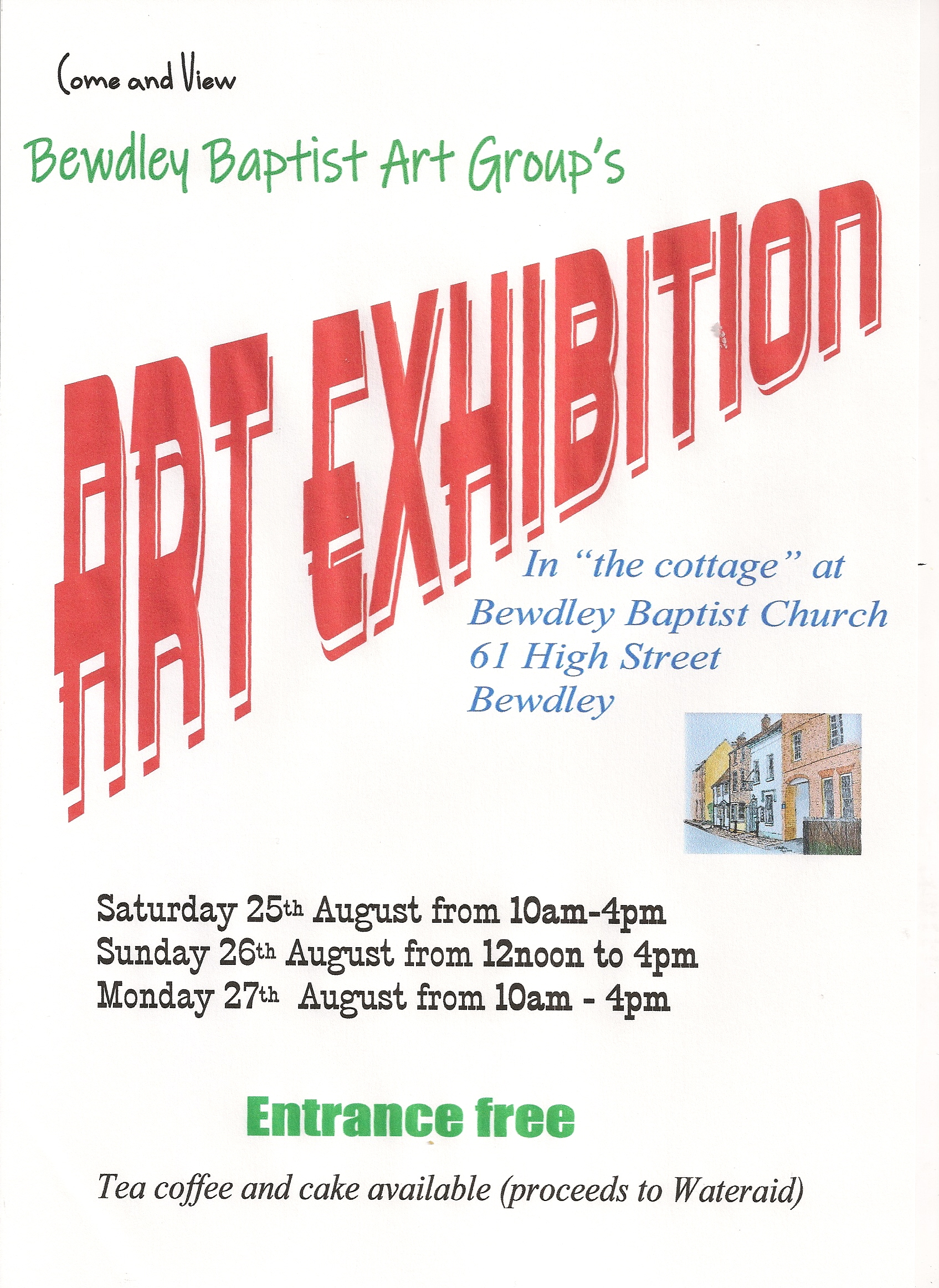 Bewdley Baptist Art Group Art Exhibition