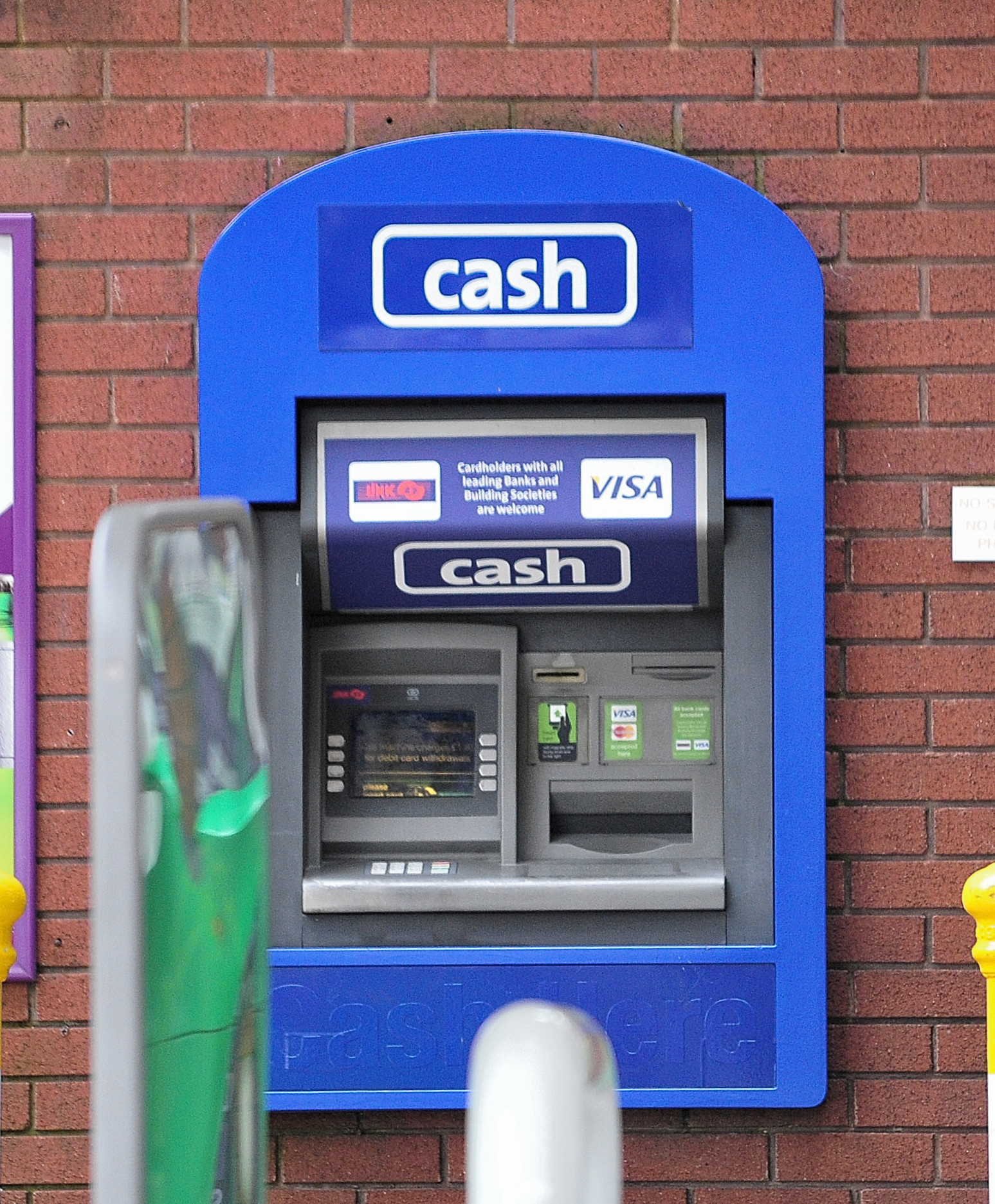 View of the Cashpoint at the BP Garage on Blackpole Road, Blackpole, Worcester. 20.8.18
