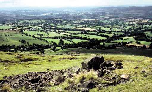 STUNNING: The view south-west across Worcestershire and Herefordshire from Clee Hill