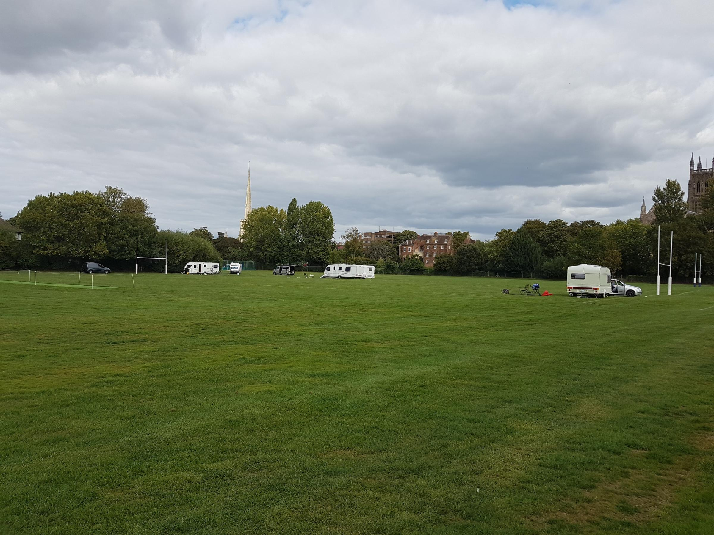 TRAVELLERS: The travellers on the King's playing fields