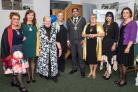 Pictured are (from left) Mariet Verhoef, Florina Buta from Romania, Ingrid Blaauw and Ineke Van Hofwegen from SI Zwolle from the Netherlands, Jabba Riaz, president SI Worcester and district Anne McLucas, mayoress Sajeeda Begum and Daniela Andrica from Rom