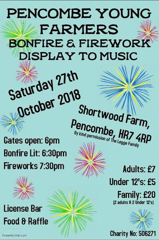 Pencombe YFC Bonfire and Fireworks 2018