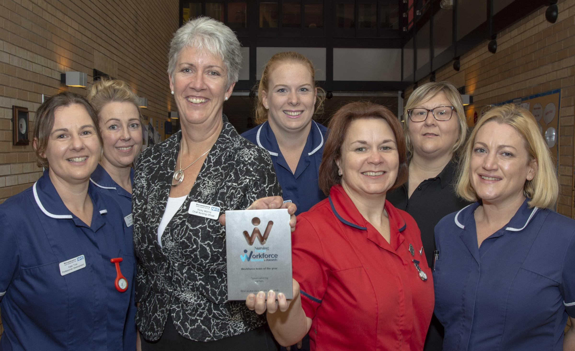CELEBRATE: Kate Title, Sian Thomas, Vicky Morris, Rebecca Lloyd, Jackie Edwards, Deborah Ford and Kate Knight
