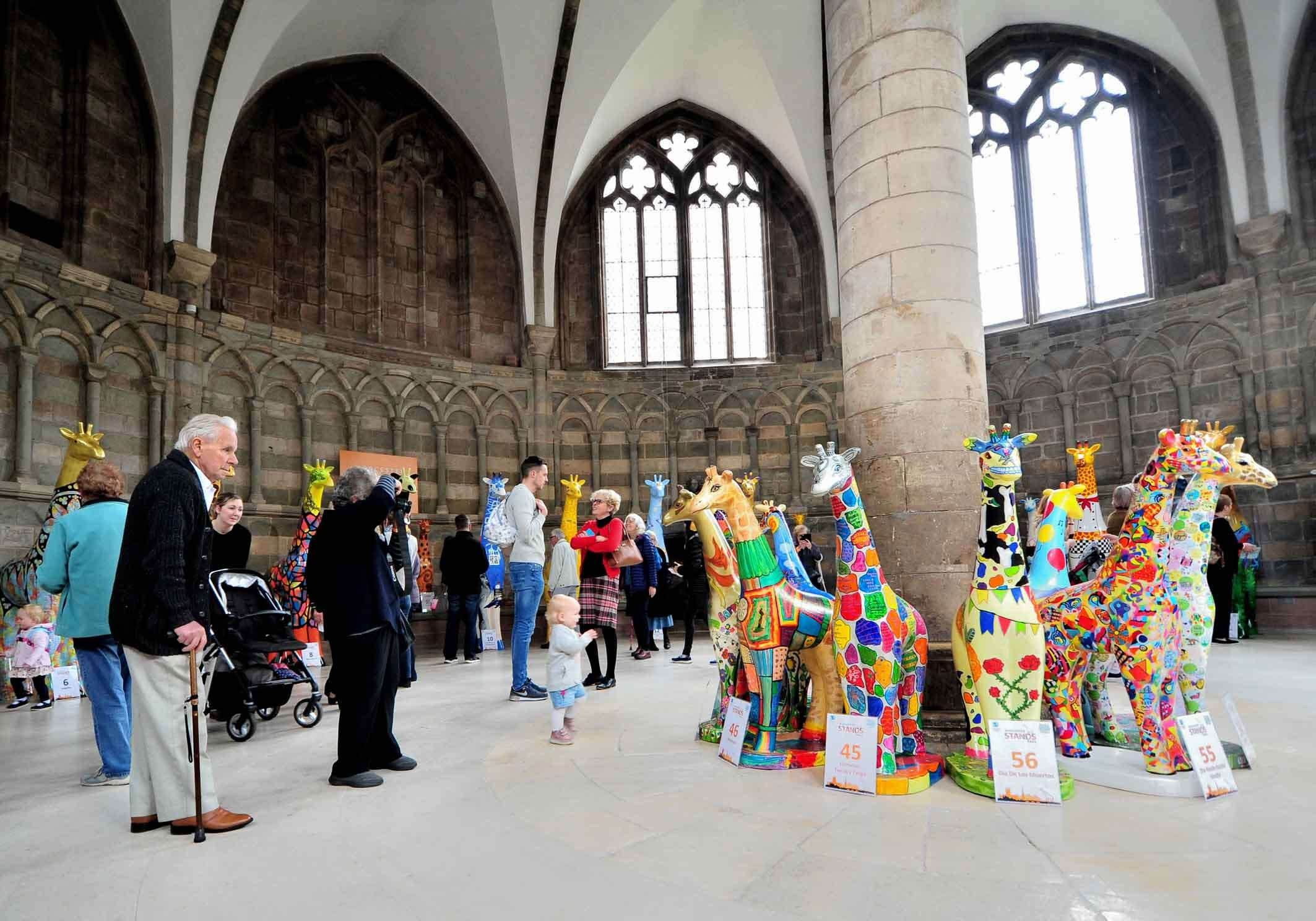 The Farewell event for the St Richards Hospice Worcester Stands Tall trail, held at Worcester Cathedral...Pic Jonathan Barry 4.10.18.