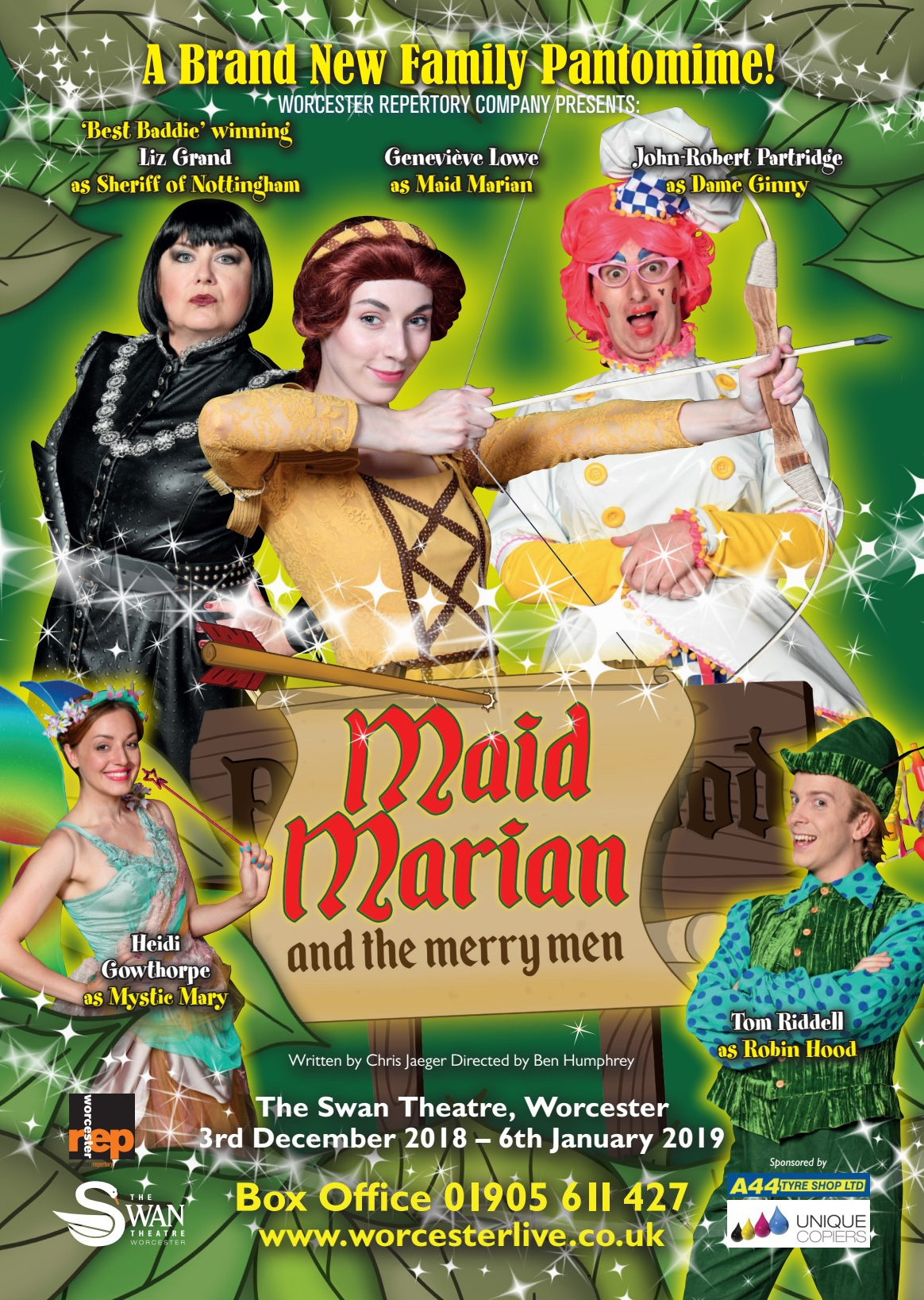 Swan Theatre Pantomime! Maid Marian and the Merry Men