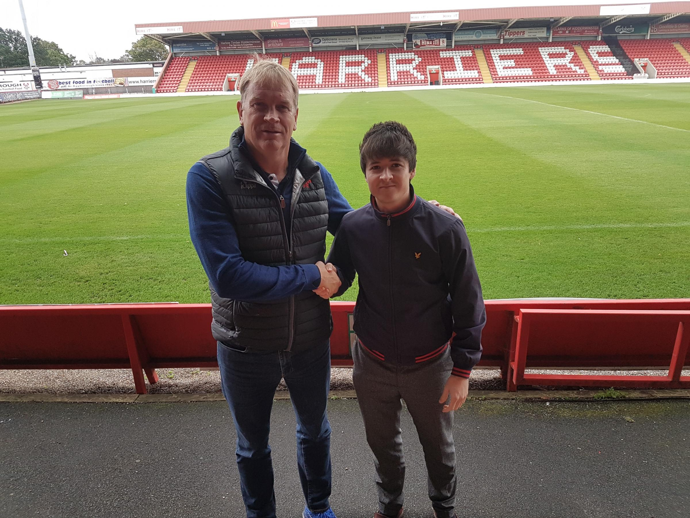 Harriers chairman Colin Gordon with Wyre Forest Labour's Ben Davies