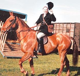 COUNTRYMAN: Peter Steel was joint secretary of the Worcestershire Hunt.