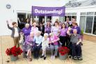 Staff and residents celebrate the outstanding rating from the CQC. Picture by Shaun Fellows / Shine Pix.