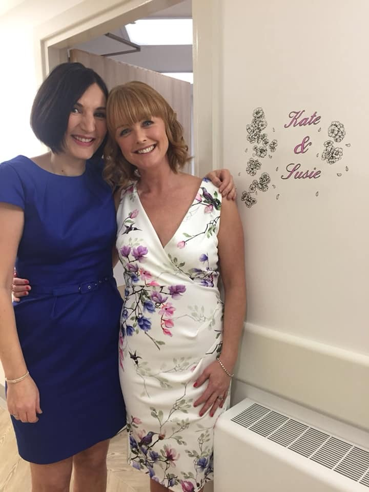 FRIENDS: Kate Butler (left) and Susie Coleman, founders of Breast Unit Events