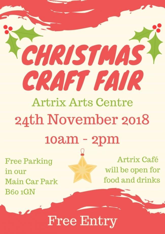 Christmas Craft Show Flyer.The Artrix Christmas Craft Fair Returns November 24