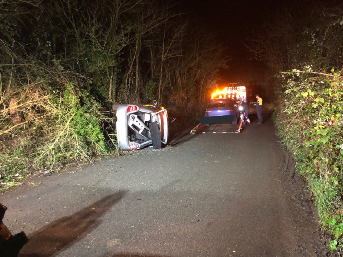 CRASH: The two car crash. Picture: West Mercia Specials
