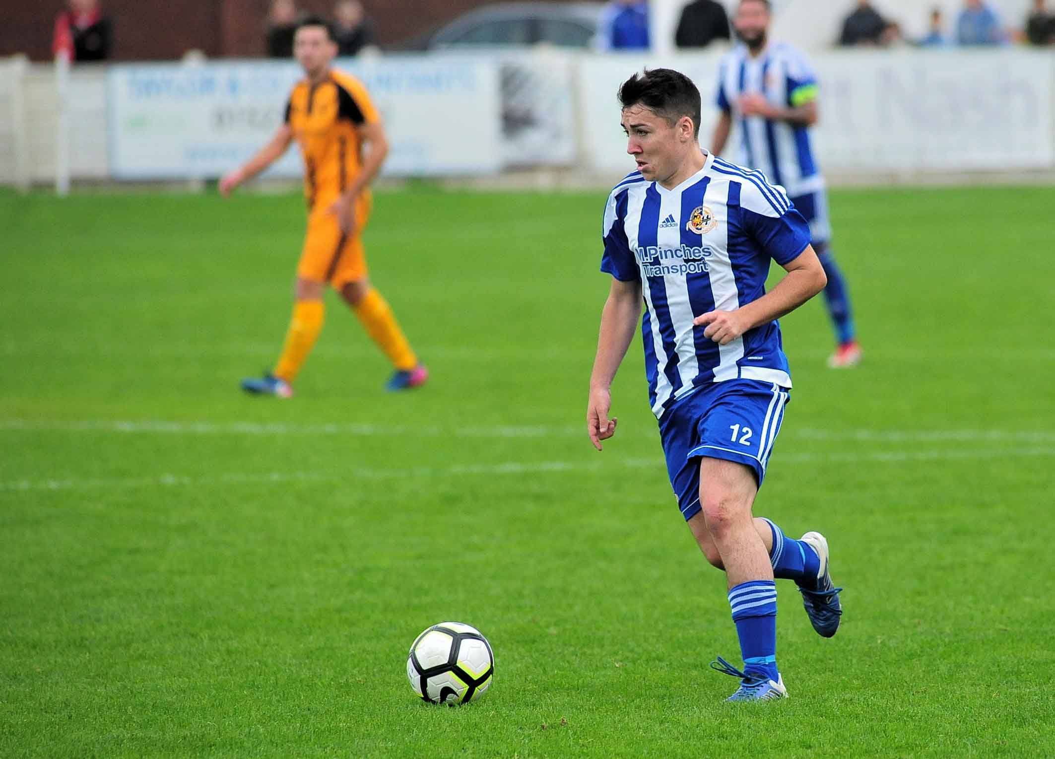 James Baldwin put Worcester City in front at Sporting Khalsa. Picture: JONATHAN BARRY