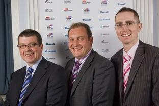 Commercial manager Austin Birks, managing director Scott Dunn and marketing manager John Everill.