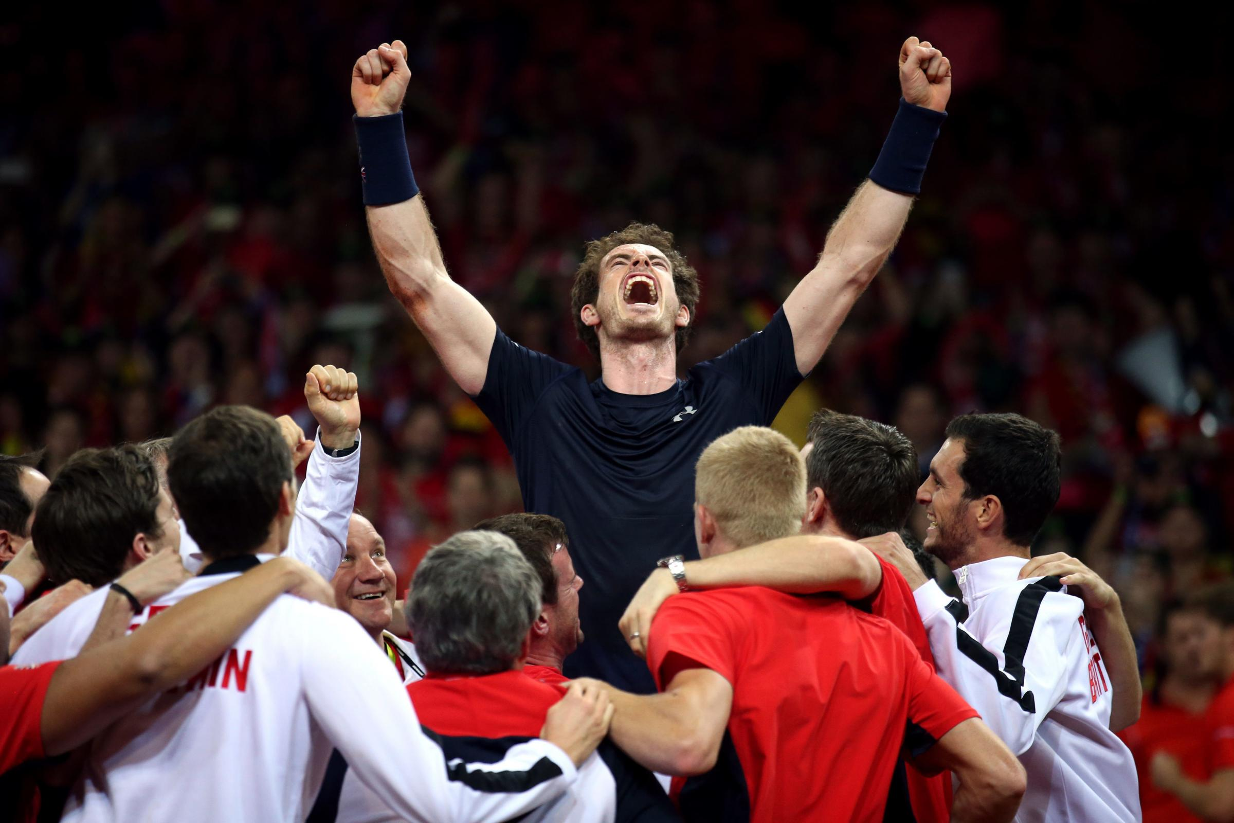 WINNERS: Andy Murray led Great Britain to a Davis Cup win in 2015. Picture: Andrew Milligan/PA Wire