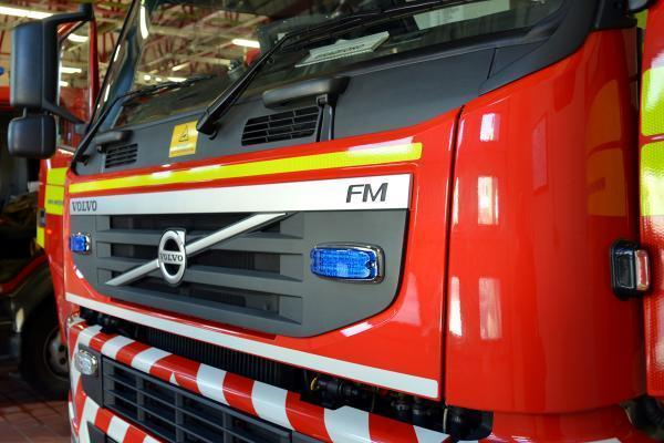 Fire crews were called to the field between Leominster and Tenbury