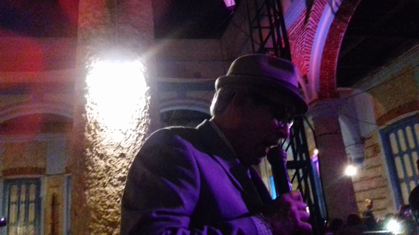 From the heart... a singer takes the microphone at the Buena Vista Social Club, Havana, Cuba.
