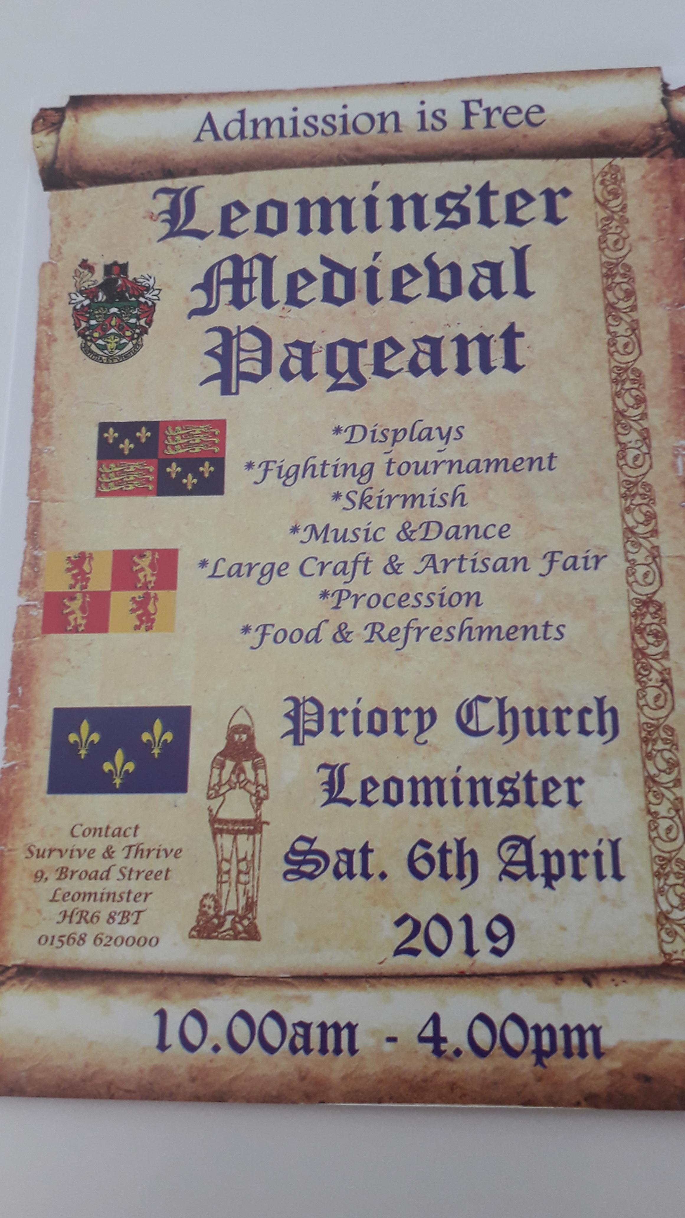 Leominster Medieval Pagaent