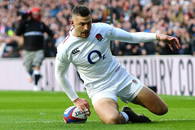 0b4c36b53a9 Jonny May hat-trick helps England to resounding victory over France ...