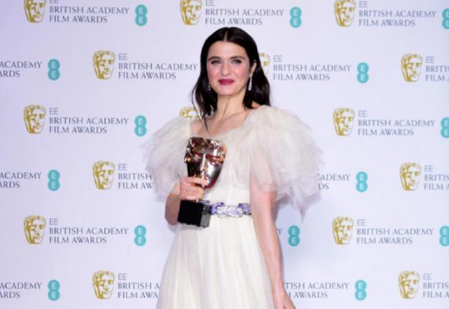 AWARD: Rachel Weisz with her Bafta at the event last Sunday. Picture: Ian West/PA