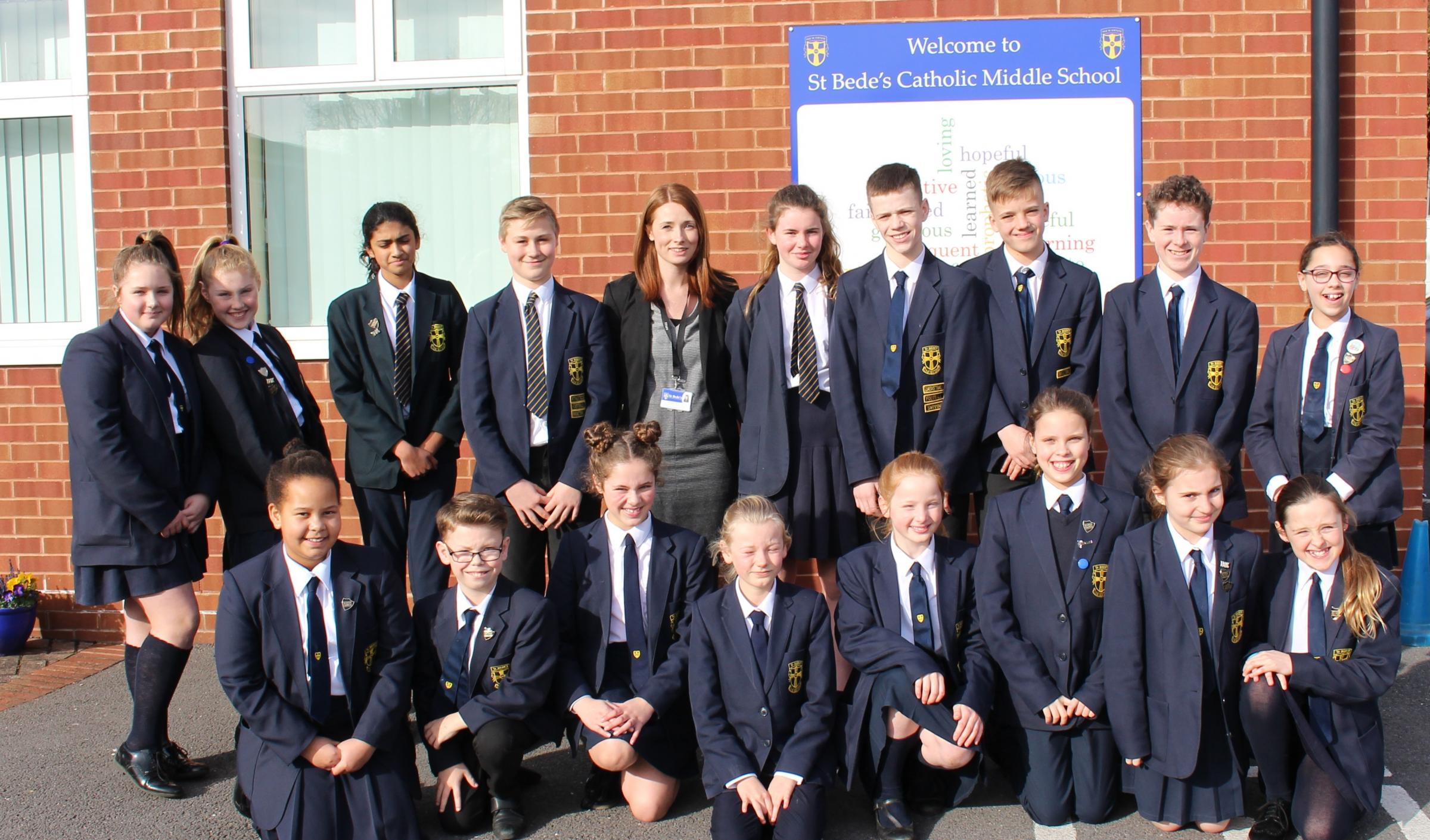 St Bede's School Council members and the House Captains