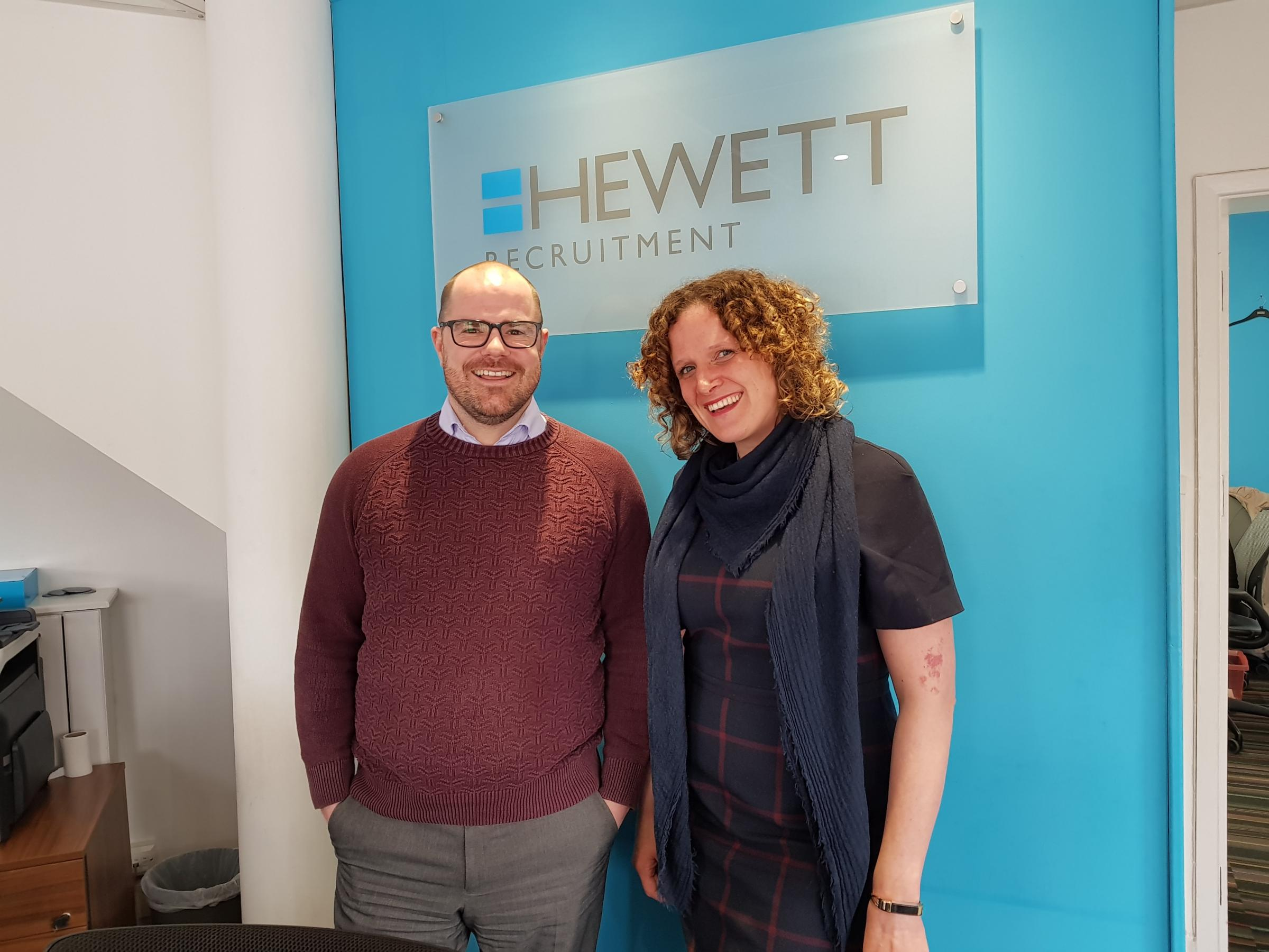 FRIENDS: Laura Hewett and Ben Mannion from Hewett Recruitment