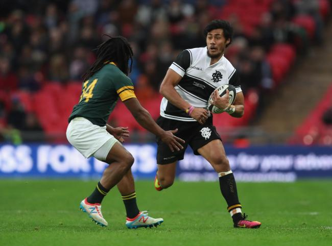 Melani Nanai in action for the Barbarians against South Africa at Wembley. Picture: BARBARIANS