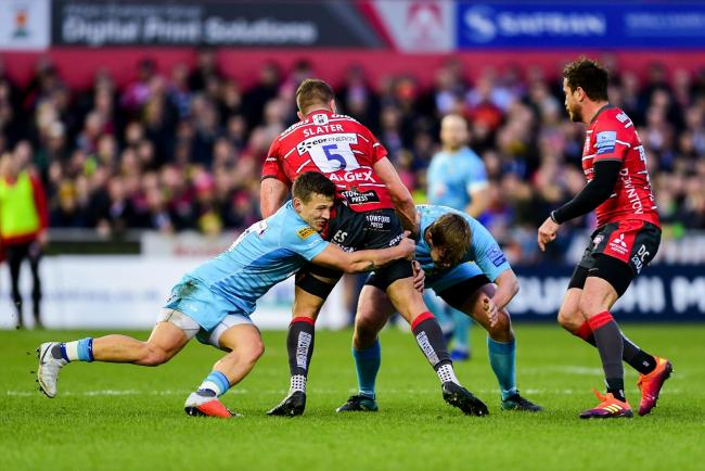 Action from Worcester Warriors' clash with Gloucester earlier this season. Picture: Ryan Hiscott/JMP