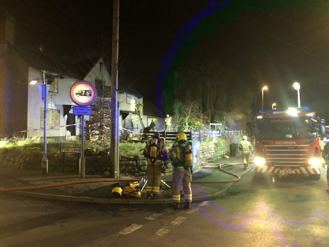There was a severe fire at the former Greyhound pub. Pic Robert Allen twitter
