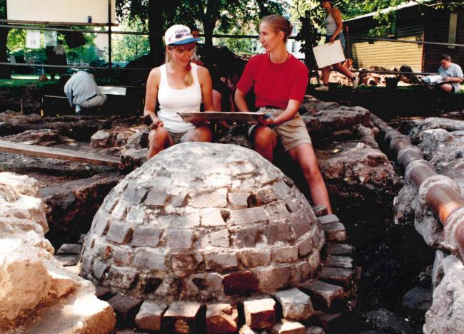 TODAY'S picture from the archives of the Worcester News dates back to July 1997, when archaeologists working in the grounds of the city's cathedral uncovered the foundations of the building's Anglo-Saxon predecessor after a gas pipe was excava