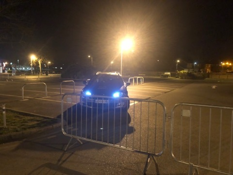 EVENT: A security firm had been hired and barriers were put up at Elgar Retail Park despite the meet-up switching to Stratford
