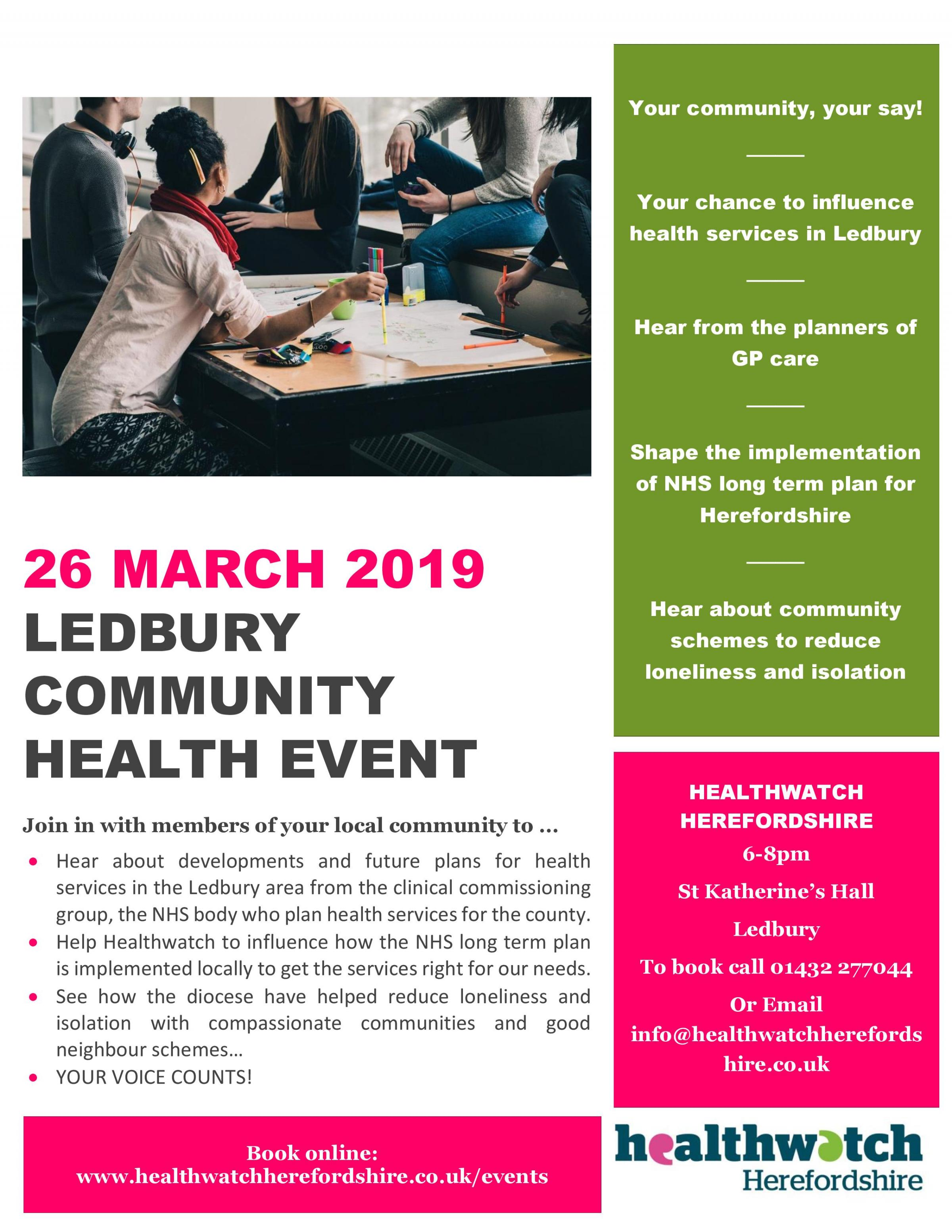 Ledbury Community Health Event