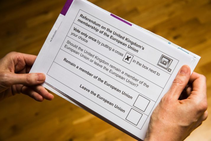 BALLOT: The ballot papers of the 2016 European Union referendum. Picture: Getty Images