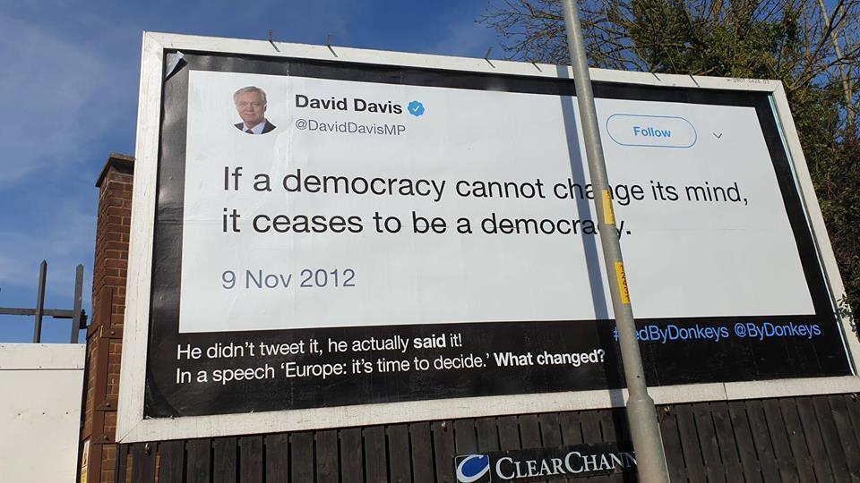 Billboard mocking Brexiteer appears in Worcester