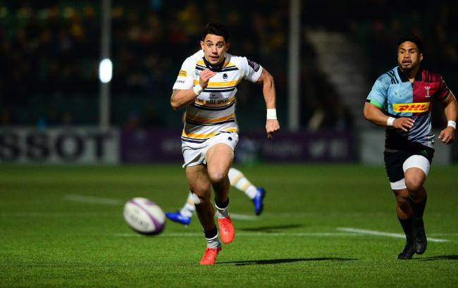 Bryce Heem chases the ball. Picture: Dougie Allward/JMP