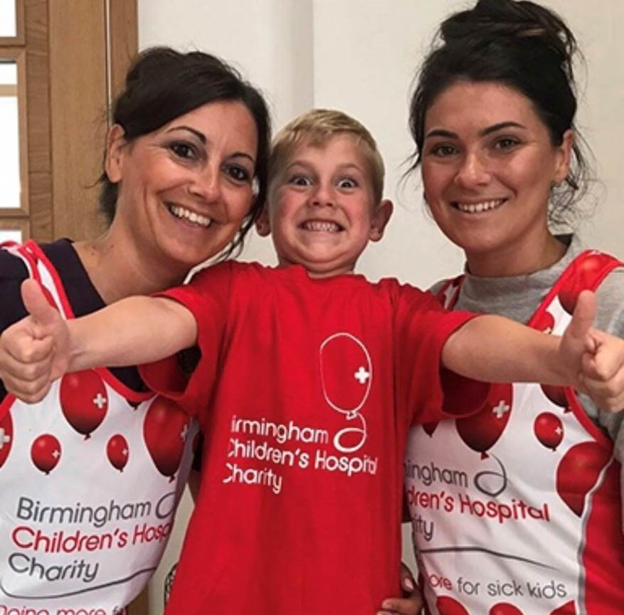 CHARITY: Alfie Orton (centre) with mum Roxanne (Left) and grandmother Tracy (Left)