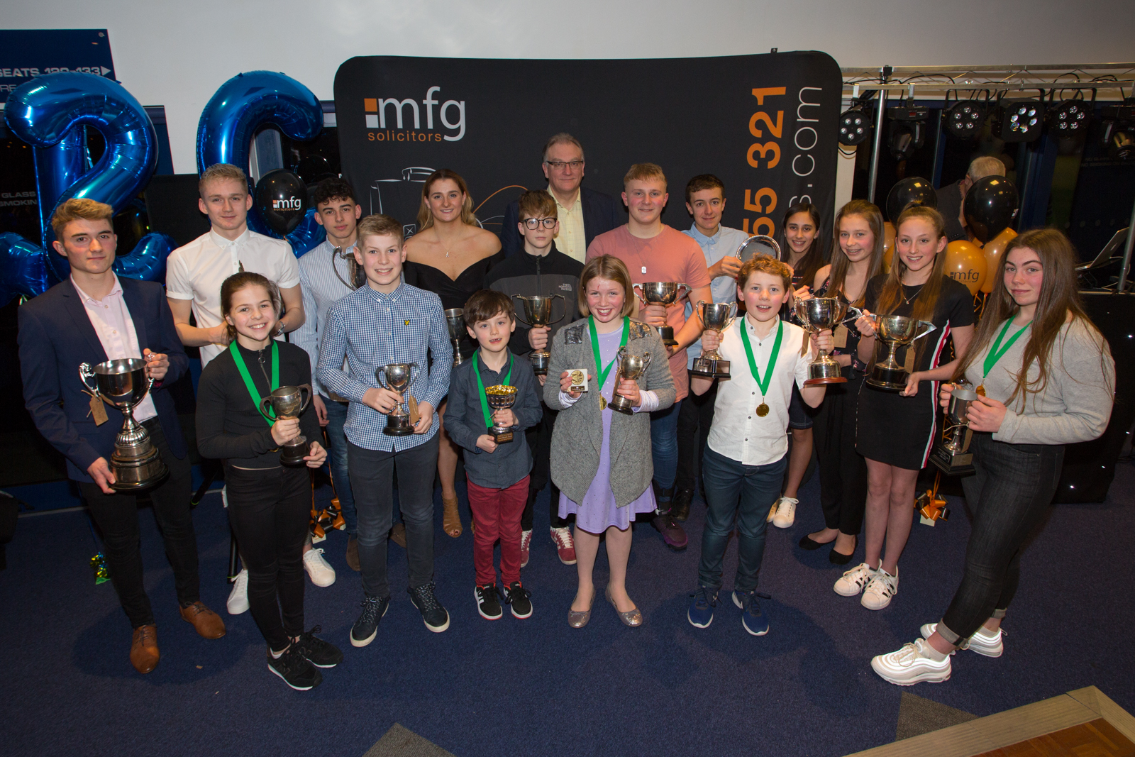 AWARDS: Winners at the Worcester Swimming Club awards