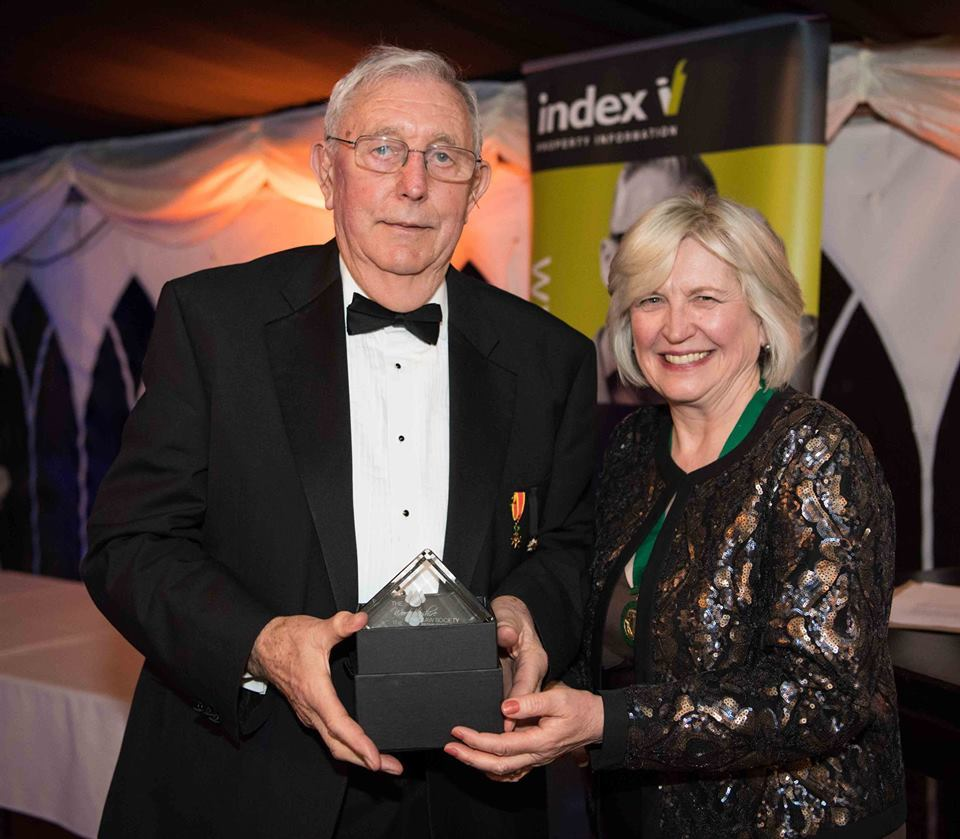 AWARD: Jim Quinn with Pat Beeching, President of the Worcestershire Law Society