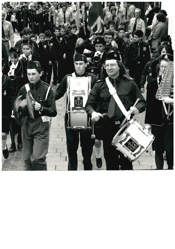 WITH St George's Day not too far away, today's picture is a reminder of how the day was marked in 1992. Banging the drum for St George are members of the Worcester Boys' Brigade Band as the parade, with more than 800 youngsters taking part, ma