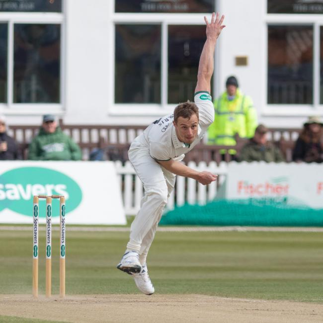 Worcestershire bowler Charlie Morris. Picture: JOHN MALLETT