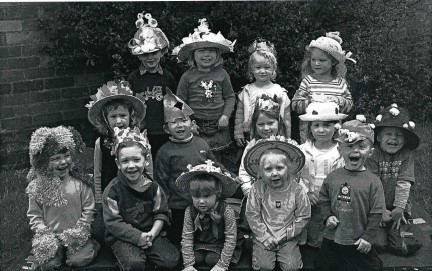 EASTER: Today's nostalgia pic is from 2005 and features the boys and girls from Ombersley Pre-School and their Easter Bonnet Competition