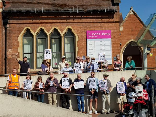 PROTEST: The group's previous 'save our library' demonstration