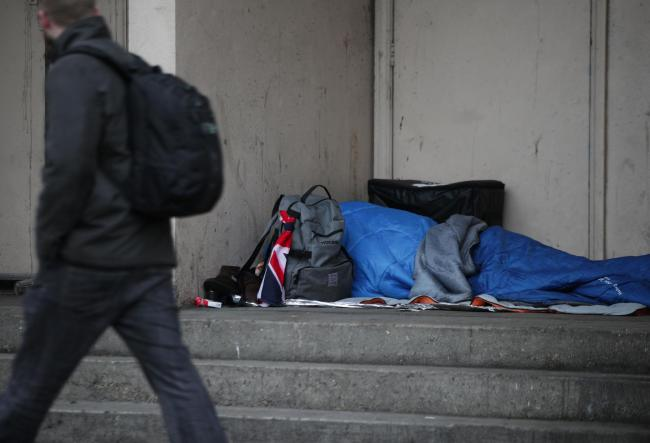 HOMELESS: Worcester City Council is set to put aside £533,000 for recommissioning a county-wide homeless prevention service. Photo: Yui Mok/PA Wire