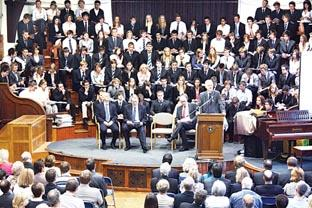 AWARDS CEREMONY: Staff, students and guests at RGS Worcester and the Alice Ottley School's presentation evening.