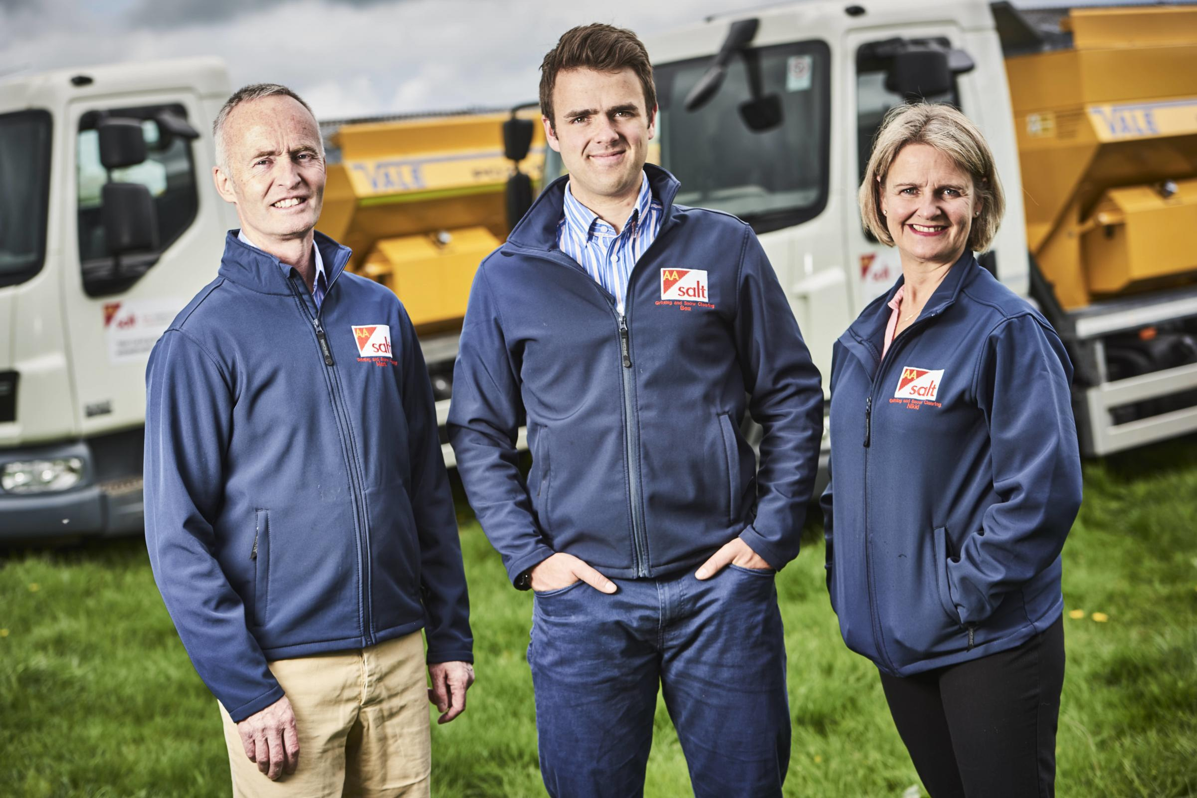FAMILY: Left to right - Mark Rogers, Ben Tanner and Nikki Rogers from AA Salt. Pic. DGP