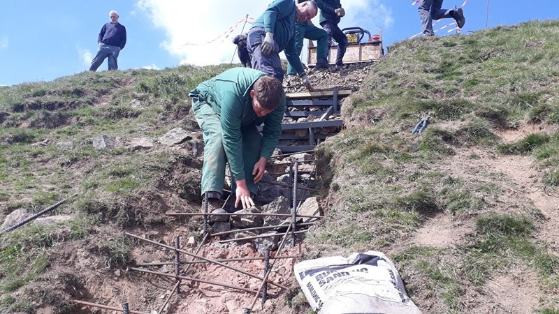 Repairs being carried out at ancient fort on Malvern Hills