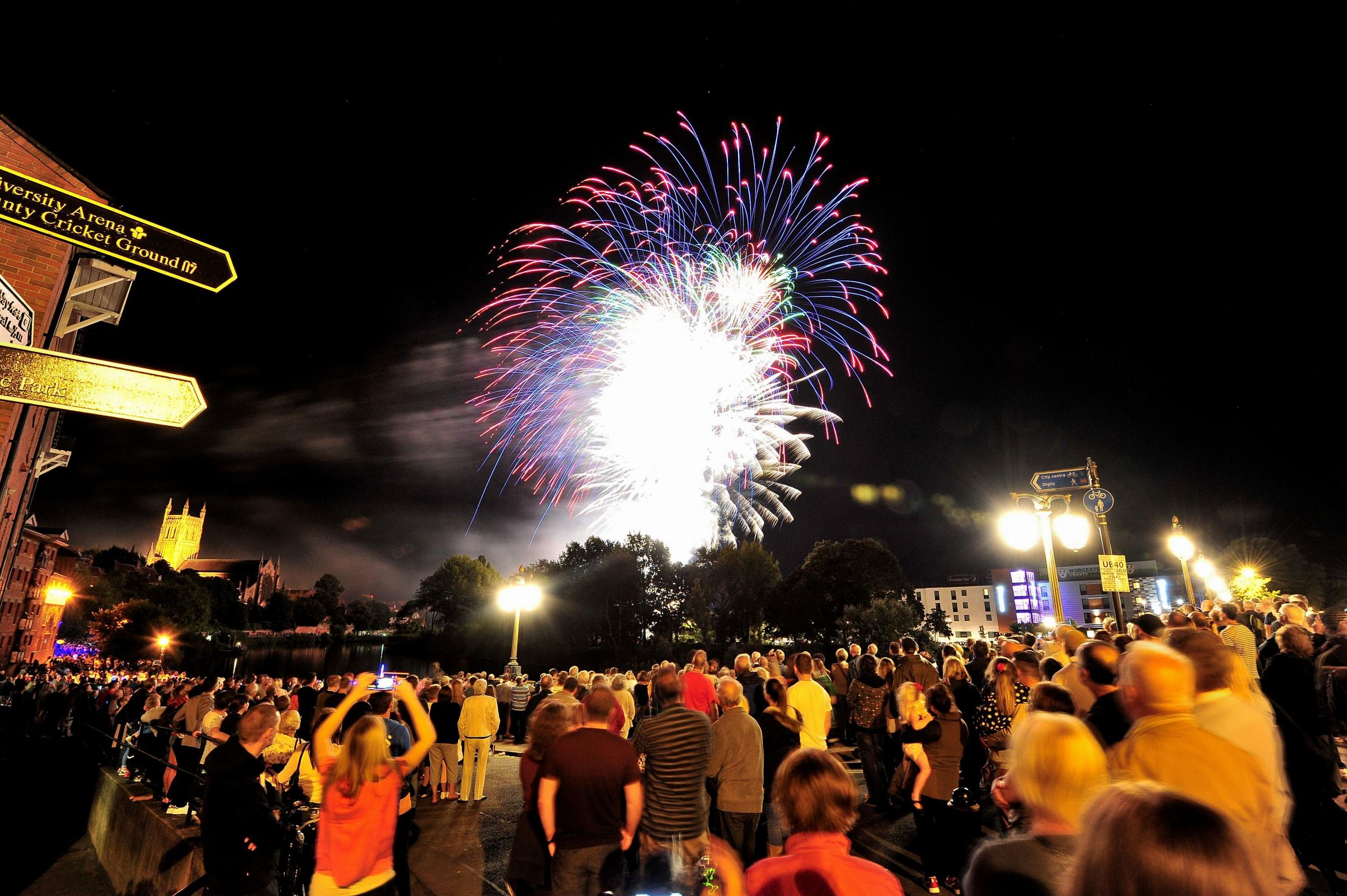 Fireworks scrapped for this year's Worcester Festival