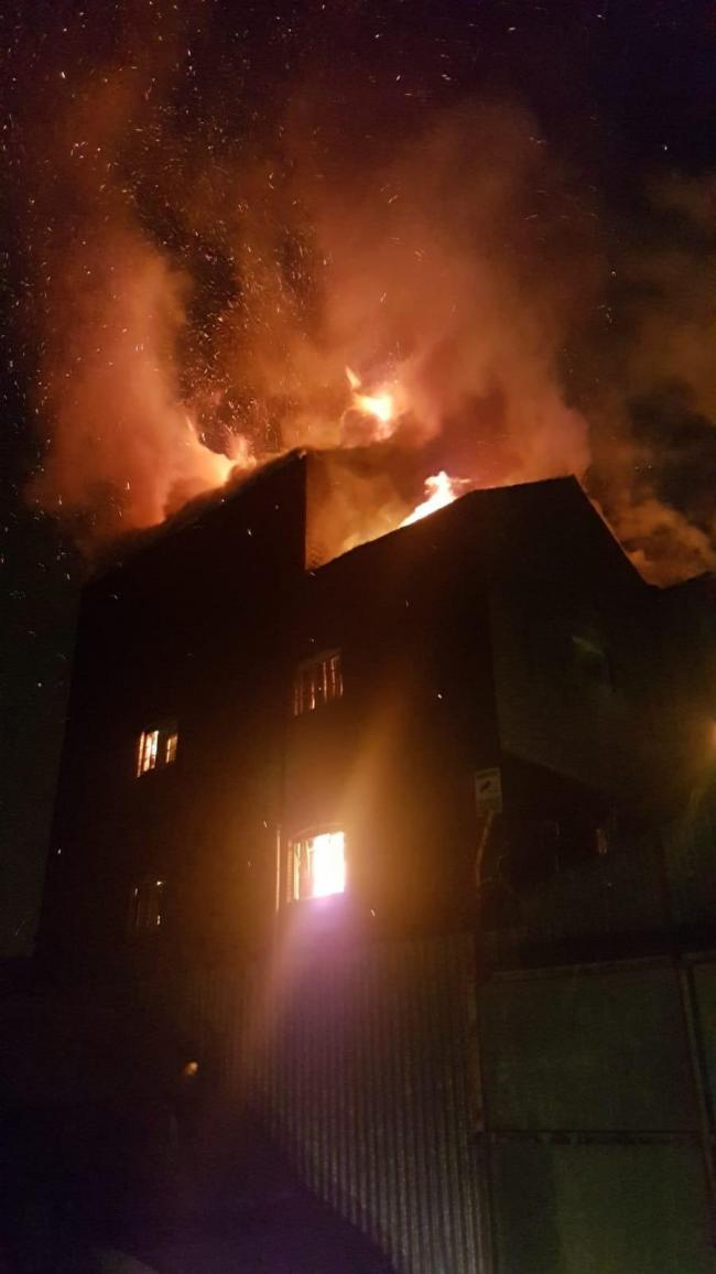 The fire in Doulton Road. Pic: Dudley Fire Station